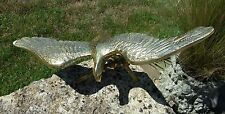 """Vintage Solid Brass Eagle 18½"""" Wingspan Bird of Prey Heavy Collectable Ornament"""