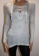 COTTON ON Brand Light Grey Knit Long Sleeve Pullover Hoodie Size S BNWT #SU74