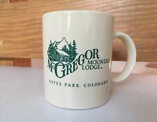 Vintage McGregor & Castle Mountain Lodge Estes Park Colorado Coffee Mug Glass