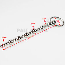 New Through hole Urethral Sound Dilator Beads w Ring Stainless Steel Stretcher