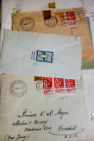France Stamps Antique Selection Lot of 50 Early 1930's Covers