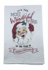 Mud Pie North Carolina Wonderful Time Christmas Towel