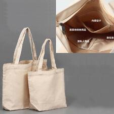 Blank Pattern Canvas Shopping Bags Eco Foldable Shoulder Bag Handbag Tote Bag