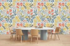 3D Watercolor Floral Wallpaper Wall Murals Removable Wallpaper 53