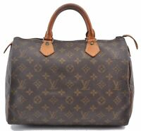 Authentic Louis Vuitton Monogram Speedy 30 Hand Bag Old Model LV B4485