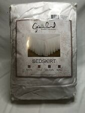 New listing Greenland Home Fashions Cotton Voile White Bed Skirt, King White, 78x80x18