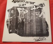 """SEX PISTOLS - """"ANARCHY IN THE U.K""""/I WANNA BE ME, FRENCH 740 501, 12"""" 45 RPM"""
