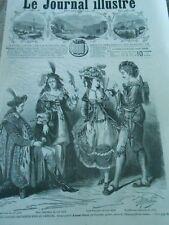 Gravure 1866 - Projet de costumes historiques pour le carnaval