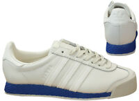 Adidas Originals Samoa Vintage Mens Leather Trainers Chalk White Blue BB8598 M16