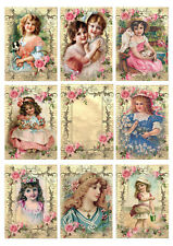Card Toppers Card Making Scrap Book Craft Victorian Children Shabby Chic Cards