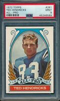 1972 Topps #281 Ted Hendricks AP - Colts - HOF - PSA 9 - MINT - 45246589 - SCA