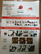 Taban Airlines 737-400 Safety Card