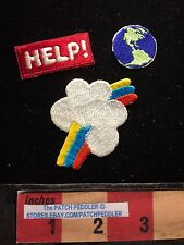 Jacket Patch Lot GLOBE / EARTH / RAINBOW / HELP (help save the earth) C63I