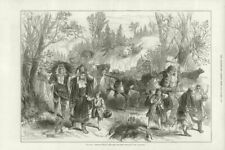 Serbian-Turkish War: Herzegovinian refugees between Belosavé & Goslitch 1876