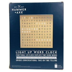 Light Up Word Clock LED Displays Time Using Words Brand New in Box