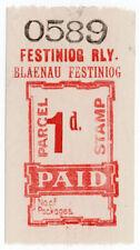 (I.B) Festiniog Railway : Parcel Stamp 1d (Blaenau Festiniog)