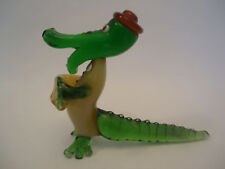 Vintage Very Rare Crocodile GENA Art Glass Sculpture Figurine Russian USSR