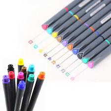 10Pcs/Set New 0.38mm Watercolor Fine Line Pen Painting Tool Brush Art Supplies