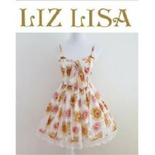 Liz Lisa Sunflower pattern Dress Lolita Hime Gyaru shibuya109 Very Cute (a414)