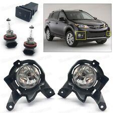 Full Set Fog lights Driving Lamps Cover Switch for 2013 2014 2015 Toyota RAV4