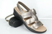 Clarks Women's Lexi Qwin Sandals Slingback Pewter Metallic