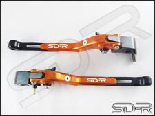 2000 - 2003 Triumph TT 600 CNC Folding Adjustable Brake & Clutch Levers - Orange