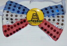 Don't Tread On Men Snake Day Button Freedom Pin Revolution Bow Tie Tea Party Usa