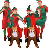 ADULTS ELF COSTUME & REINDEER PICK ME UP FUNNY CHRISTMAS UNISEX FANCY DRESS LOT