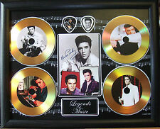 Elvis Presley Four Gold Look Discs & Plectrum Presentation