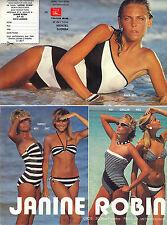 PUBLICITE ADVERTISING  1983    JANINE ROBIN  collection maillots de bain