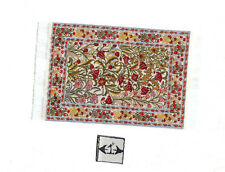 Rug  20S  miniature dollhouse woven carpet 1pc 1/12 scale made in Turkey fabric