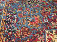 Antique Laver Kerman Persian Rug Tree Of Paradise _Circa 1870's_Estate Find!