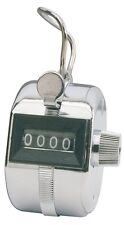 Four Digits Metal Hand Held Tally Counter Numbers Clicker, New