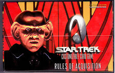 Star Trek CCG Rules of Aquisition Sealed Box of 30 packs 9 Cards per Pack.