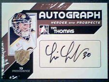 TIM THOMAS  10/11 AUTHENTIC HEROES AUTOGRAPH  SP