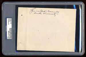 JACK COOMBS SIGNED FULL PAGE PSA/DNA SLABBED AUTOGRAPHED 30 WINS 1910 WSC