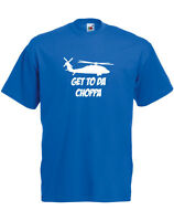 Get To The Choppa Alternate, Predator inspired Men's Printed T-Shirt Cool TShirt