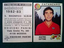 CALCIATORI 1982-83 82-1983 n 73 CATANZARO CUTTONE - Figurina Panini con velina