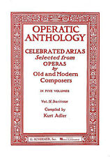 Operatic anthology volume iv baryton learn to play voix vocal piano music book