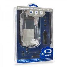 9 Piece Black Starter Kit USB & 12V Car Charger Case Earphones for PS Vita 2000