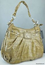 NWT Handbag GUESS Retro Croc Totes Bag Ladies Camel Authentic