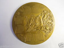 "HUGE 3.5"" 1970 FRENCH PARIS MINT CALENDAR BRONZE MEDAL, NUDE ADAM & EVE/EX. COND"