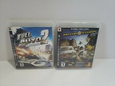 Ps3 Playstaytion 3 Game Bundle - Motorstorm & Full Auto 2 Battlelines Complete
