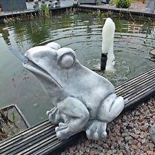 Steinfigur Wasserspeier Frosch Kröte Brunnen Deko Tierfigur Garten Steinguss