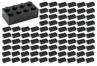 ☀️100 NEW LEGO 2x4 BLACK Bricks (ID 3001) BULK Parts star wars Starwars lot