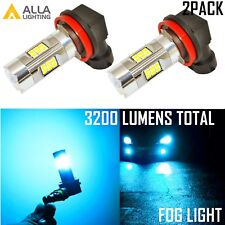 Alla Lighting 3200lm 8000K 27-LED H8 Fog Light Driving Bulbs Lamps ICE Blue, 2PC