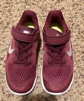 NEW Nike Free RN 2017 (PSV) Bordeaux/Sil Girl's Running Shoes-Asst Size 13C