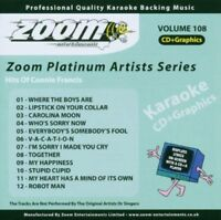 Zoom Karaoke Platinum Artists Vol. 108 CD+G - Hits Of Connie Francis