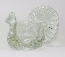 Avon Clear Glass Thanksgiving Turkey Candle Holder