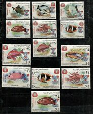 YEMEN (KINGDOM) 1968, FISH, ovpt. GRENOBLE OLYMPICS, PERF. + IMPERF., MINT, VLH